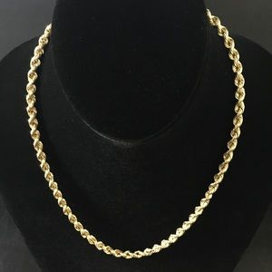 Jewelry - 14k Gold Rope Chain Necklace